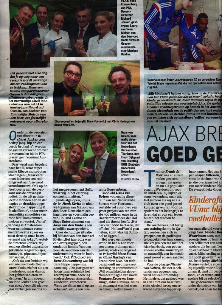 HollandWorld in Telegraaf 17/1/2015